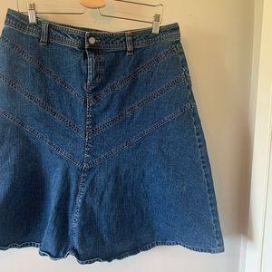 2/$18 A-line / Denim / Skirt / Knee Length